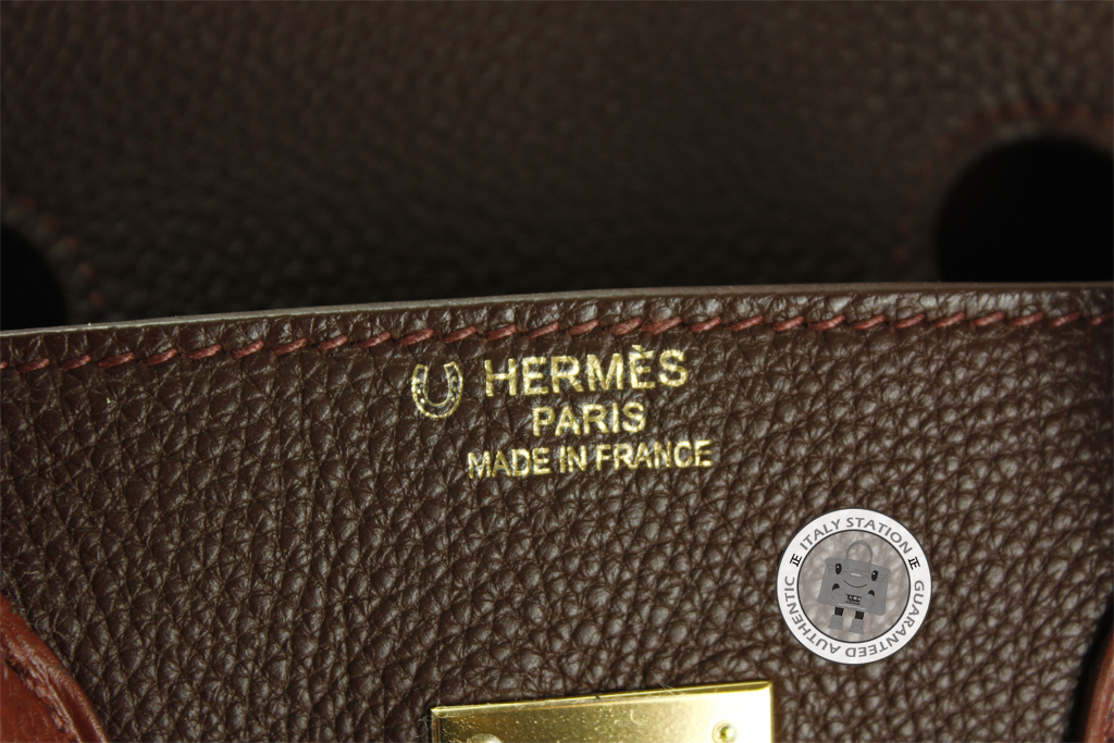 hermes bag with stamp