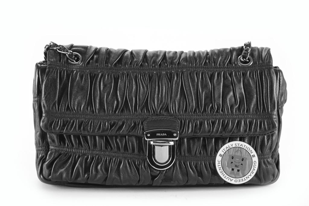 Prada Nappa Gaufre Pattina Shoulder Bag 97
