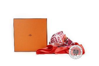 Hermes Grenadine+rose+saumon 90 Hermes Carre Mecanique DE Temps Silk 002118S Scarf