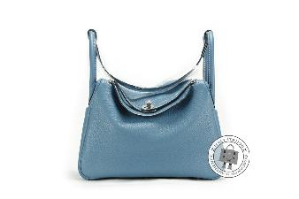 Hermes Blue Jean 30 Lindy Taurillon Clemence Shoulder Bag