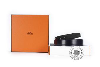 Hermes Marine+vert Olive 90 Reversible  32 MM Box Belt