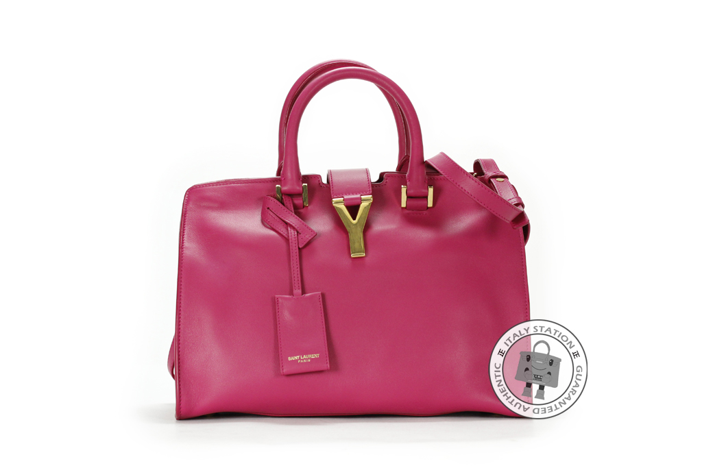 91a571d2efef IS022637 -- Ysl   Saint Laurent Rosa Petit Cabas Y Calfskin 311210 BJ50J Tote  Bag