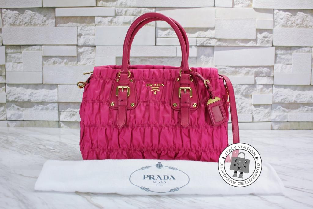 1f41c9f9d26c ... clearance is028155 prada fuxia tessuto gaufre shopping nylon b1336h qr1 tote  bag a1cc7 33bb9 ...
