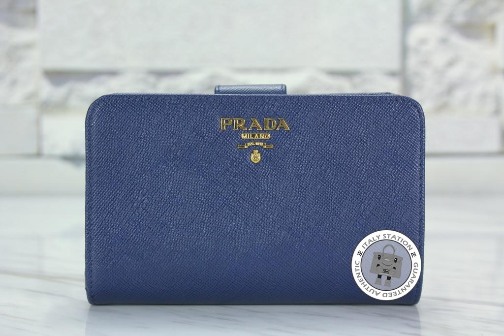 b123081a7c6c ... where can i buy is031778 prada bluette saffiano metal portafoglio lampo  calfskin 1m1225 uzf short wallet