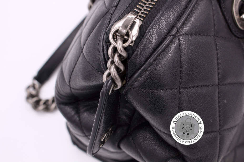 IS034382 -- Chanel Black New Large Chanel Boy Chained Tote Bag Handle Calf  Calfskin A92748 a48bc3481b91f