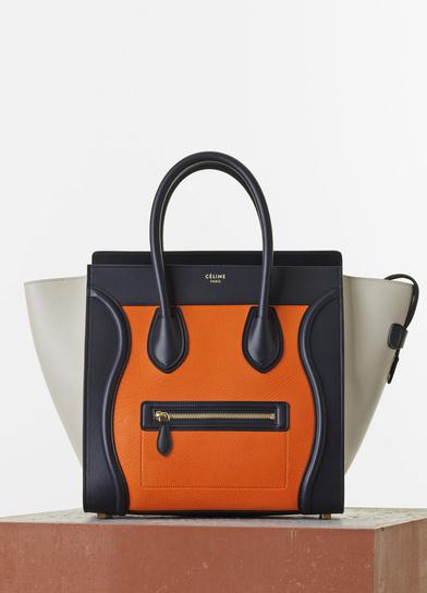 d701d07d5a Celine-Bright-OrangeBlackBeige-Mini-Luggage-Bag-Spring-2015